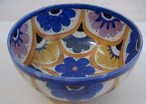Carlton Ware Handcraft 'Floral Scallops' Fruit Bowl - 1930s